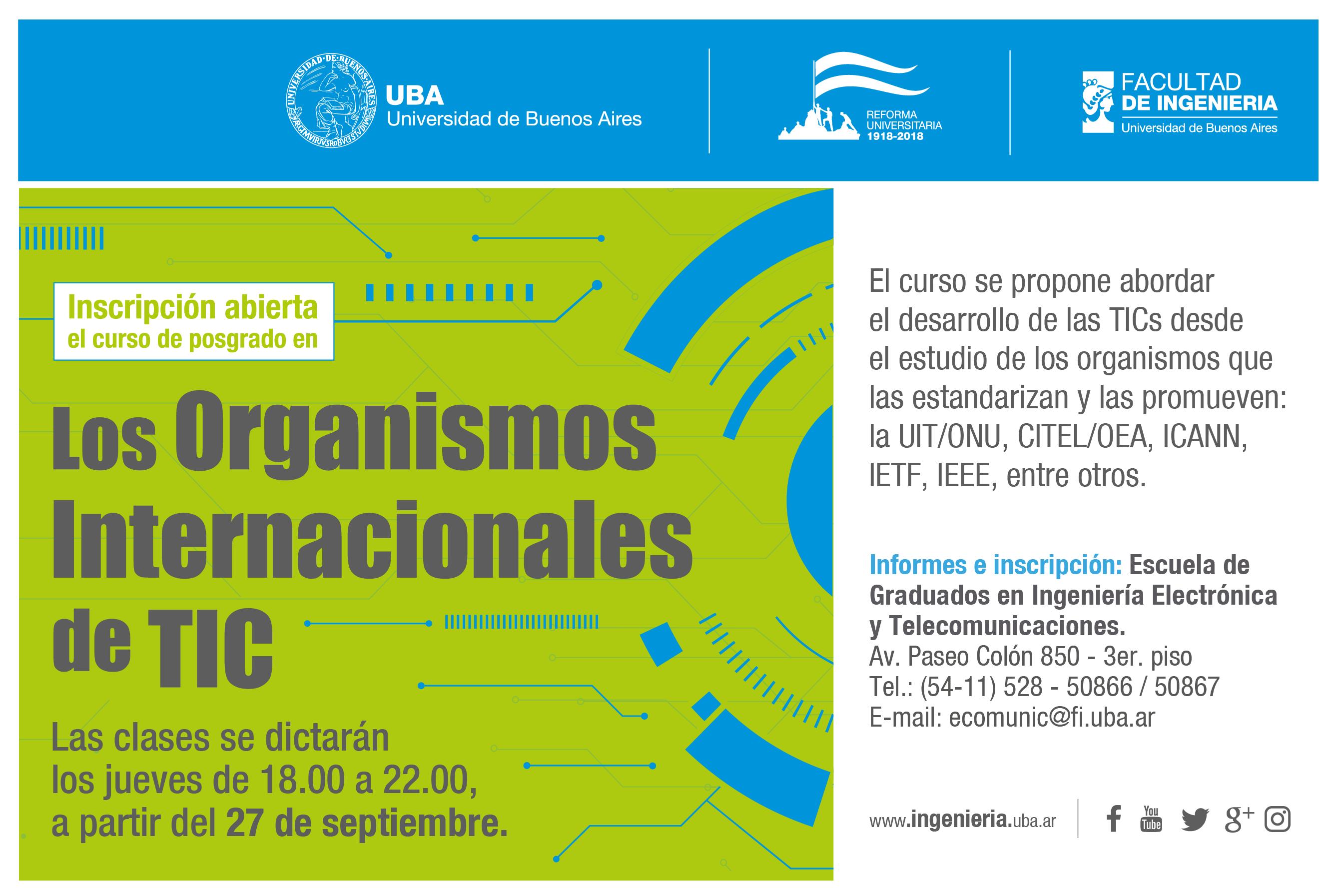 Los Organismos Internacionales de TIC en la UBA